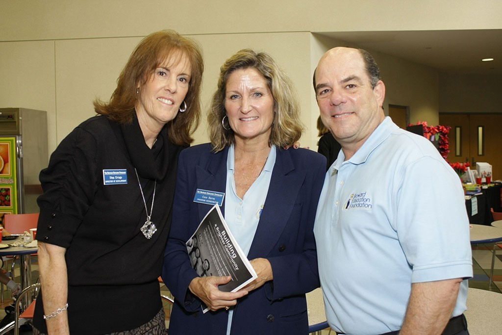 From Left-Right: Shea Ciriago, Coco Burns, and Dave Marcus, Chair of the Board of Broward Education Foundation