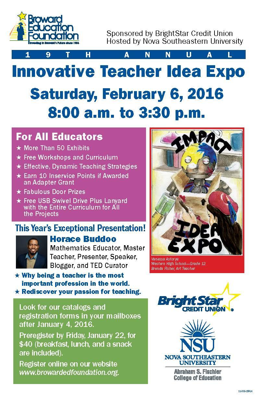 19th Annual Innovative Teacher Idea Expo   Broward ...