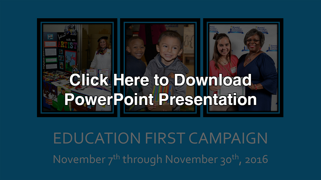 Education First PowerPoint 2016