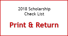 2017 Scholarship Check List