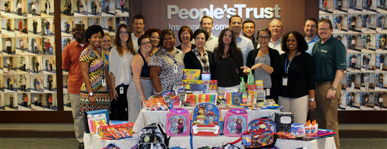 People's Trust Back to School Supply Drive