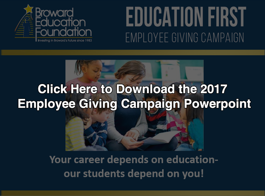 2017 Education First Employ Powerpointee Giving Campaign